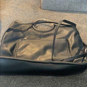 Black leather crossbody.